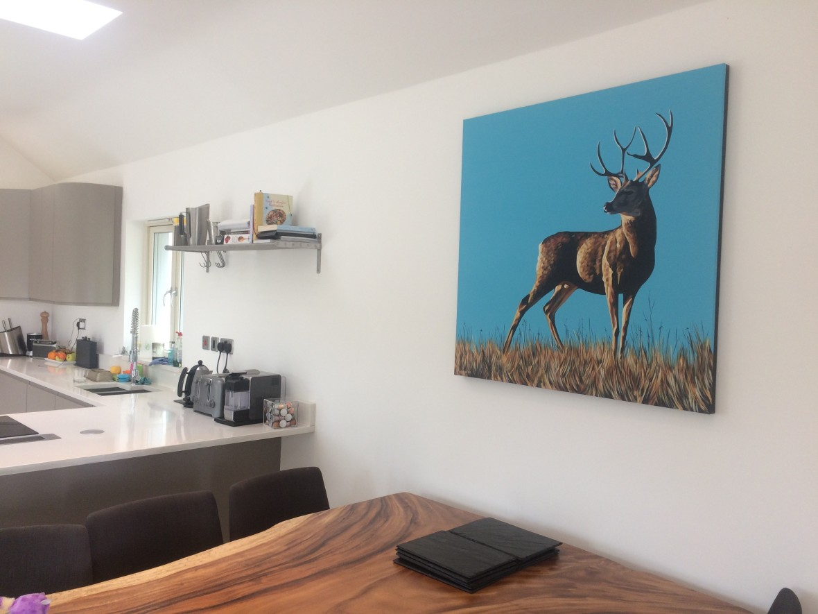 Stag in Kitchen